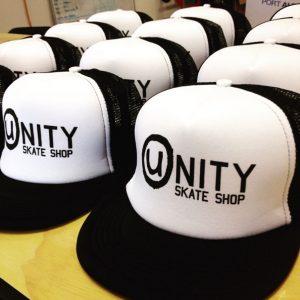 Unity Skate Shop hats